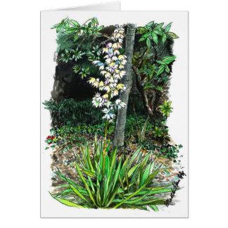 A corner of a garden card