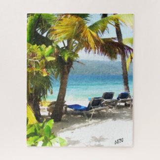 A corner of paradise on a beach jigsaw puzzle