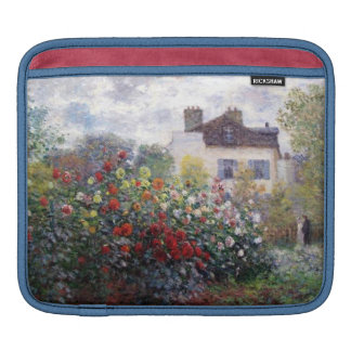 A Corner of the Garden with Dahlias by Monet Sleeves For iPads