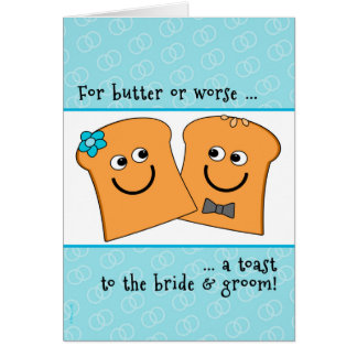 A Corny Toast to Bride and Groom Wedding Congrats Greeting Card