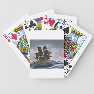 A Corvette Sailing Ship in a Storm Bicycle Playing Cards