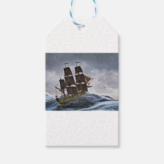 A Corvette Sailing Ship in a Storm Gift Tags