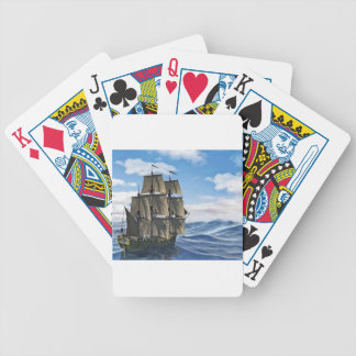 A Corvette Sailing Ship Sailing on a Calm Day Bicycle Playing Cards