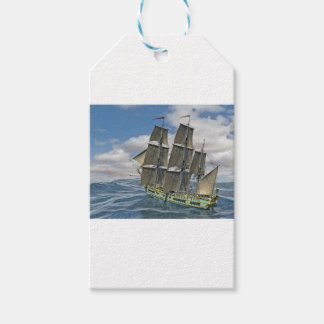 A Corvette ship Running Before the Wind Gift Tags