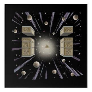 A cosmic, metaphysical,spiritual, painting. acrylic print
