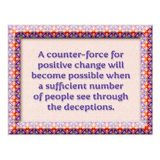 A counter-force for positive change postcard