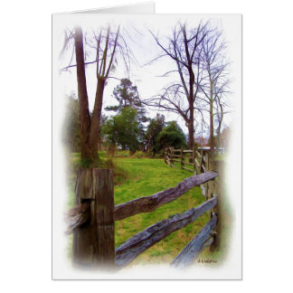 A Country Fence Note Card