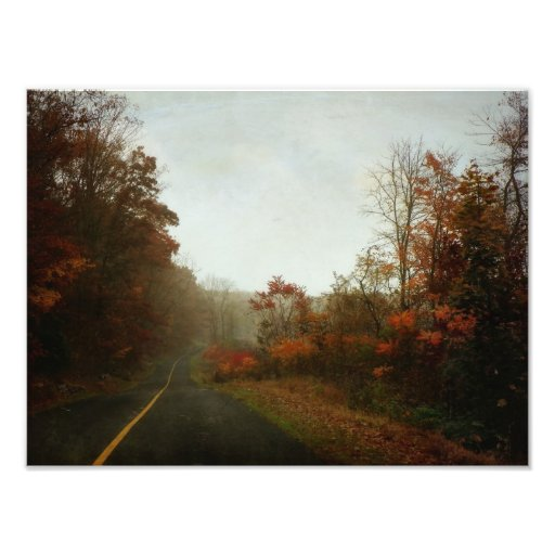 A Country Road in Autumn Photo Print