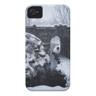 A Couple Walking Under a Snowy Glen Span Arch iPhone 4 Case-Mate Cases