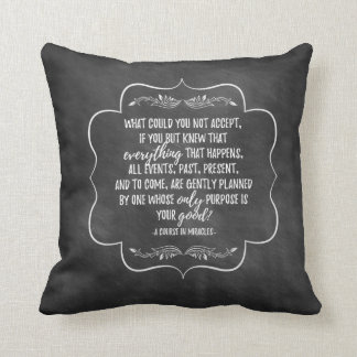 A Course in Miracles Inspirational Quote Pillow