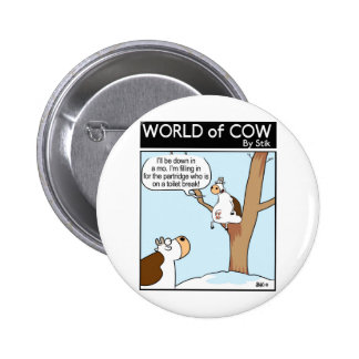 A Cow in a pear Tree Pinback Buttons
