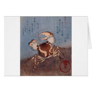 A Crab on the Seashore by Utagawa Kunisada Card