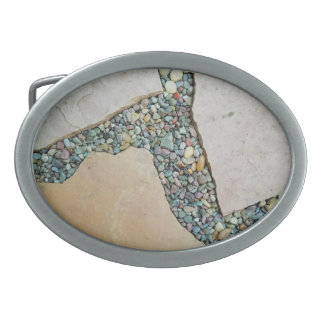 A Crack in the Pavement Oval Belt Buckle