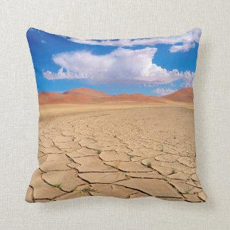 A cracked desert plain cushion