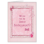 A craft look Junior Bridesmaid invitation Card