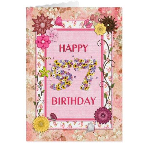 A craftlook 57th birthday card