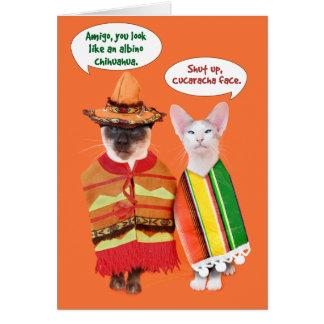 A Cranky Cats' Cinco de Mayo Card