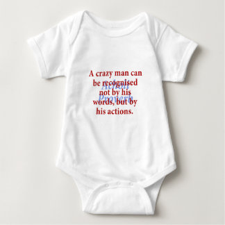 A Crazy Man Can Be Recognized - Acholi Proverb Baby Bodysuit