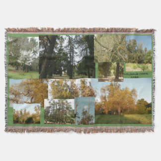 a crazy quilt of golden Thousand Oaks park scenes Throw Blanket