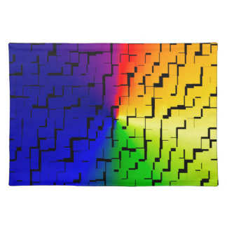 A creative colorful background placemat