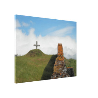 A Cross in the Countryside Canvas Print