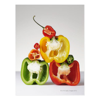 A cross-section of peppers postcard