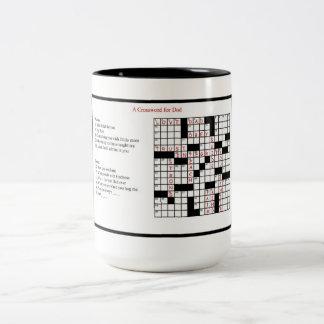 A Crossword for Dad Two-Tone Coffee Mug