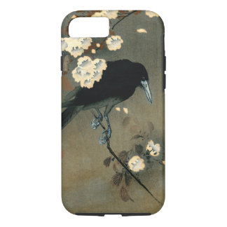 A Crow and Blossom by Ohara Koson Vintage iPhone 8/7 Case