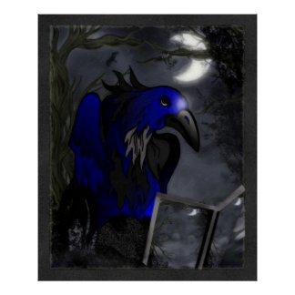 A Crow's Story Gothic Folk Art Poster
