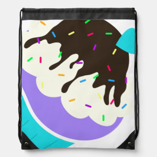 A Cup Full of Sweetness Drawstring Bag