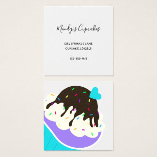 A Cup Full of Sweetness Square Business Card