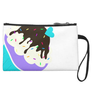 A Cup Full of Sweetness Suede Wristlet