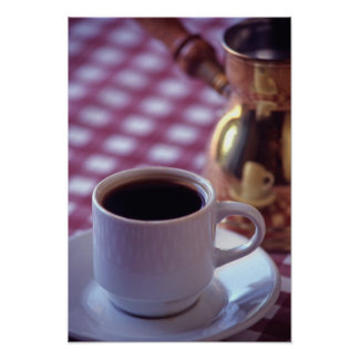 A cup of Arabic Coffee. Syria. The Middle Poster