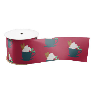 A Cup of Let It Snow Satin Ribbon