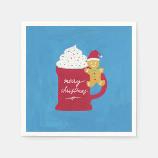 A Cup of Merry Christmas Paper Napkins