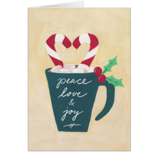 A Cup of Peace, Love and Joy Card