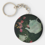 A cup of tea Keychan Basic Round Button Key Ring