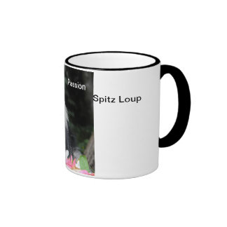 A cup with the colors Passion Spitz Wolf Coffee Mug