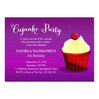 A Cupcake Birthday Party Invitation