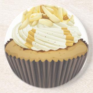 a cupcake coaster