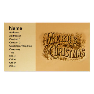 A Currier and Ives Merry Christmas Pack Of Standard Business Cards