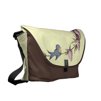 A Cute Birdhouse Messenger Bags
