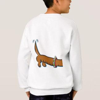 A Cute Dachshund wearing reindeer Antlers Sweatshirt