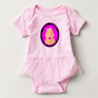 A cute, funny, baby girl baby bodysuit
