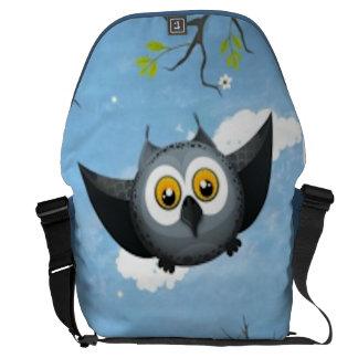 A Cute Gray Owl Commuter Bags