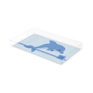 A Cute Happy Dolphin Acrylic Tray