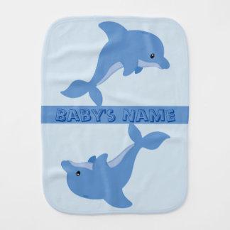 A Cute Happy Dolphin Burp Cloth