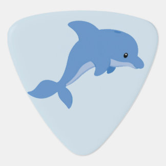 A Cute Happy Dolphin Guitar Pick
