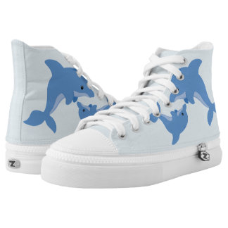 A Cute Happy Dolphin High Tops