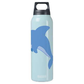 A Cute Happy Dolphin Insulated Water Bottle